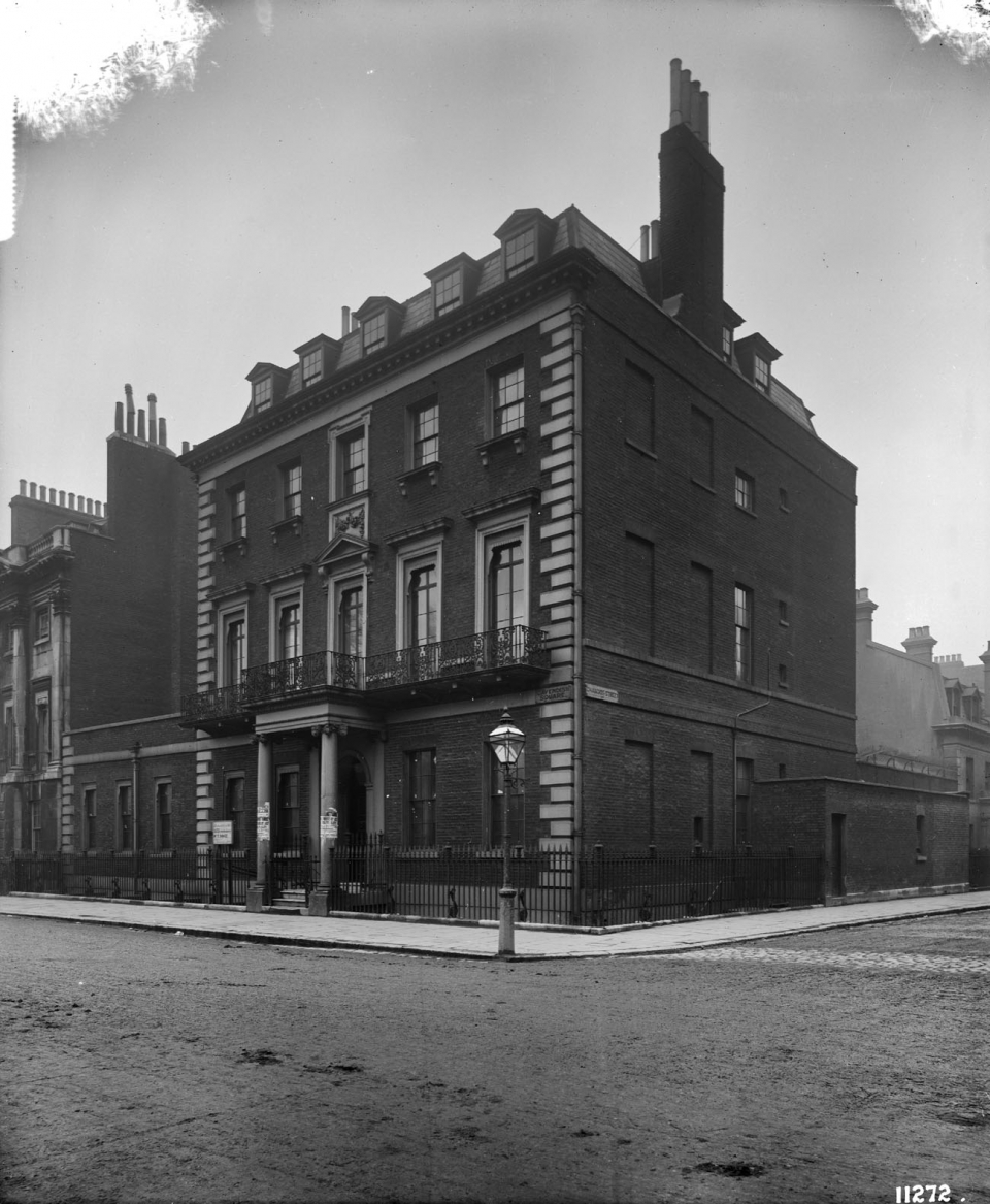 figure 2 Robert Adams's house at 9 Cavendish Square. Photographed in 1891, Bedford Lemere,