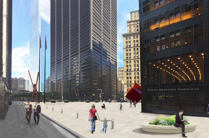 Rendering of NV5's revised design for 140 Broadway