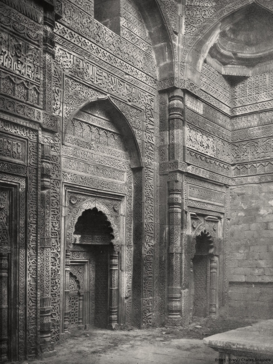 Shams-ud-Din's Gateway and Tomb. Interior of the Tomb [Iltutmish's Tomb, Qutb].