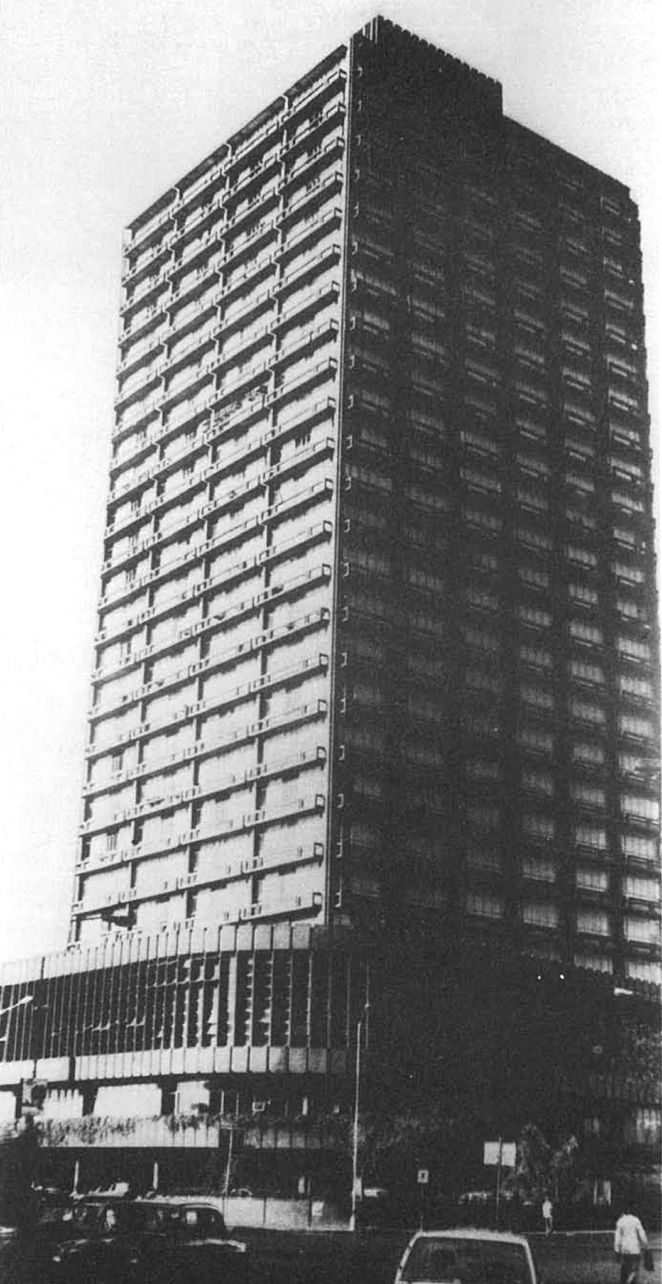 Indian Express Towers, photographed circa 1984 for Vistāra - The Architecture of India exhibition