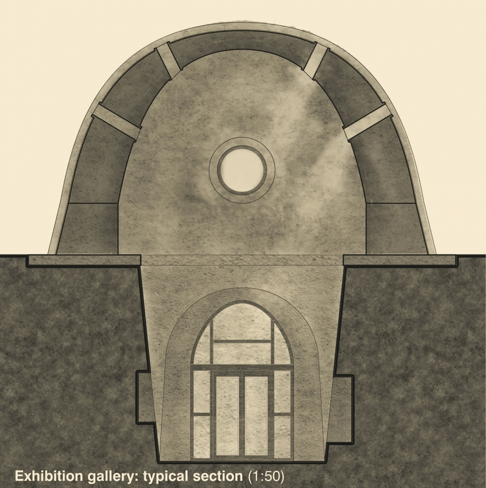 Exhibition Gallery: typical section