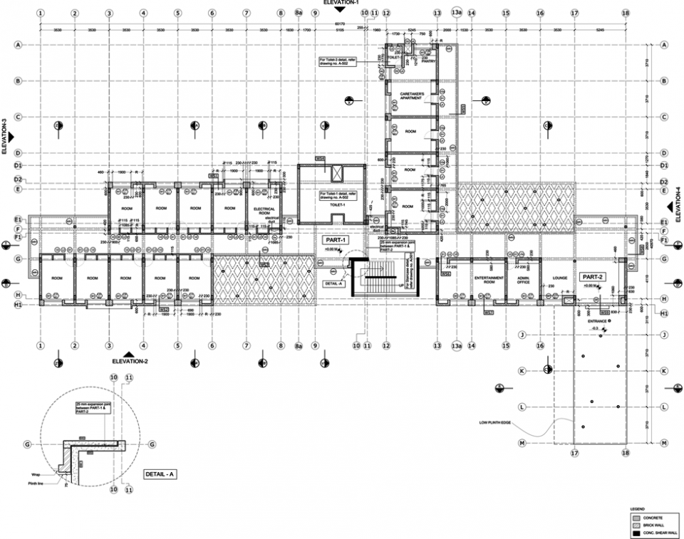 "Ground Floor Plan, type ""A"" model (1)"