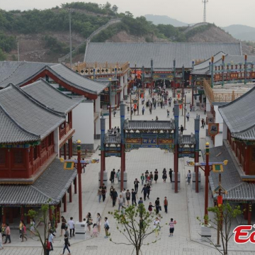 """Photo shows the Old Summer Palace replica project in China's Zhejiang province. The first phase of Old Summer Palace replica opened at the Zhejiang-based Hengdian World Studios, dubbed as the """"Chinese Hollywood,"""" on May 10, 2015."""