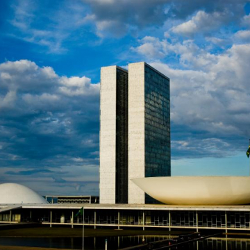 The Brazilian Congress was designed as a nod to the scales of justice.