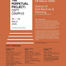 Poster: Exhibition on Learning Environments * The Perpetual Project: CEPT Campus