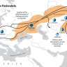 The Bronze Age spread of Yamnaya Steppe pastoralist ancestry into two subcontinents—Europe and South Asia.