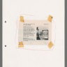 Clipping describing TV alarm system, ca. 1974–1975. Relief half-tone print and coloured pencil. DR1995:0263:032:008:001, Cedric Price fonds, Canadian Centre for Architecture Collection